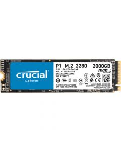Crucial P1 2TB PCIe NVMe Gen-3.0 x4 3D QLC NAND M.2 NGFF (2280) Solid State Drive - CT2000P1SSD8