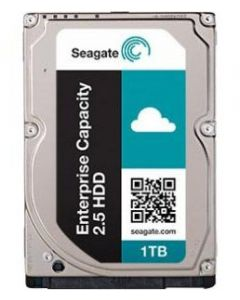 "Seagate Enterprise Capactity 2.5 HDD 1TB 7200RPM SAS 12Gb/s 128MB Cache 2.5"" 15mm Enterprise Class Hard Drive - ST1000NX0363 (SED)"