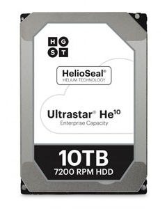 "Hitachi Ultrastar HE10 10TB 7200RPM SATA 6Gb/s 256MB Cache 3.5"" Enterprise Class Hard Drive - HUH721010ALE604 (512e/SE)"