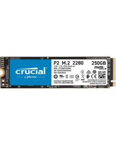 Crucial P2 250GB PCIe NVMe Gen-3.0 x4 3D TLC NAND M.2 NGFF (2280) Solid State Drive - CT250P2SSD8
