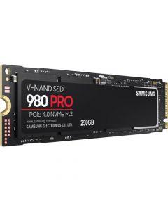 Samsung 980 PRO 250GB PCIe NVMe Gen-4.0 x4 3bit MLC V-NAND 512MB LPDDR4 Cache M.2 NGFF (2280) Solid State Drive - MZ-V8P500B/AM