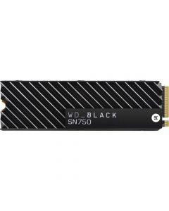 Western Digital Black SN750 1TB PCIe NVMe Gen-3 x4 3D TLC NAND M.2 NGFF (2280) Solid State Drive - WDS100T3XHC (with Heatsink)