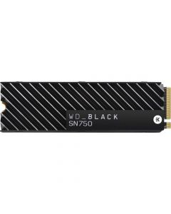 Western Digital Black SN750 500GB PCIe NVMe Gen-3 x4 3D TLC NAND M.2 NGFF (2280) Solid State Drive - WDS500G3XHC (with Heatsink)