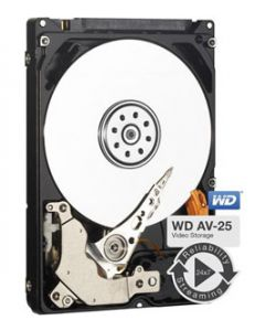 "Western Digital AV-25  1TB 5400RPM SATA II 3Gb/s 16MB Cache 2.5"" 9.5mm Laptop Hard Drive - WD10JUCT"
