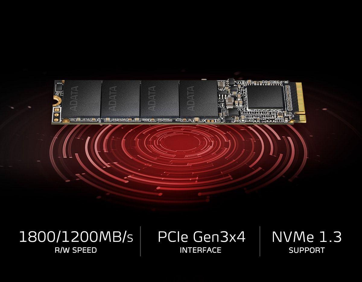 ADATA XPG SX6000NP Lite  512GB PCIe NVMe Gen-3.0 x4 TLC 3D NAND M.2 NGFF (2280) Solid State Drive - ASX6000LNP-512GT-C (TCG Opal 2) - Image 3