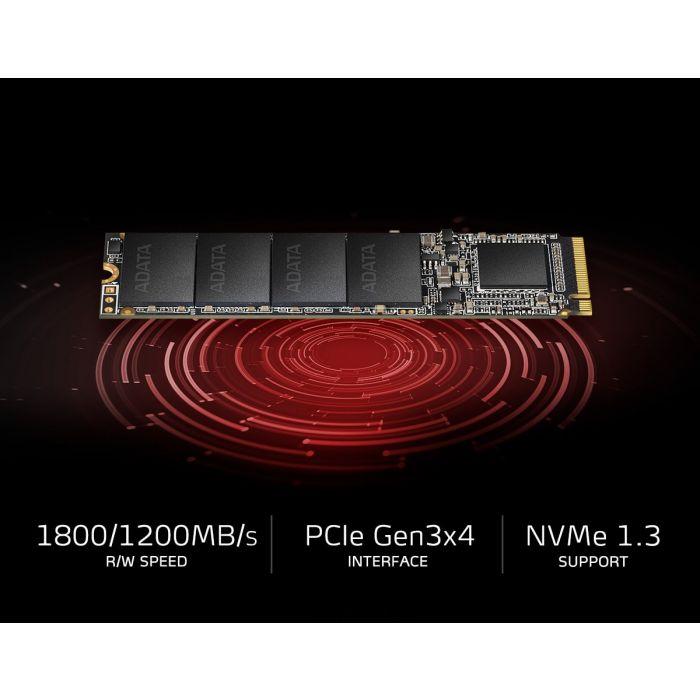 ADATA XPG SX6000NP Lite  256GB PCIe NVMe Gen-3.0 x4 TLC 3D NAND M.2 NGFF (2280) Solid State Drive - ASX6000LNP-256GT-C (TCG Opal 2) - Image 3